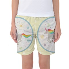 Unicorn Pattern Women s Basketball Shorts