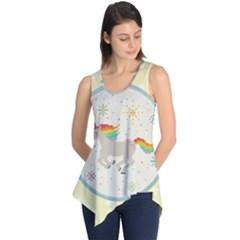 Unicorn Pattern Sleeveless Tunic
