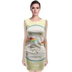 Unicorn Pattern Classic Sleeveless Midi Dress by Nexatart