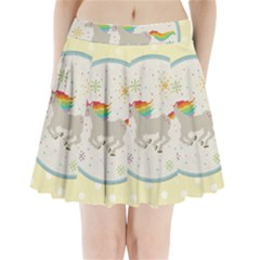 Unicorn Pattern Pleated Mini Skirt by Nexatart