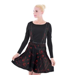 Floral Design Suspender Skater Skirt by ValentinaDesign