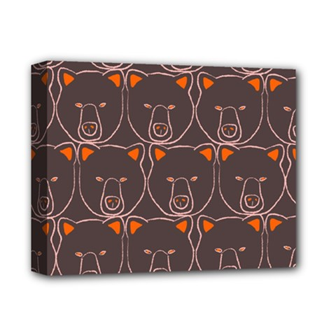 Bears Pattern Deluxe Canvas 14  X 11