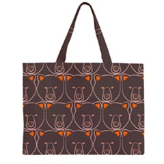 Bears Pattern Zipper Large Tote Bag by Nexatart
