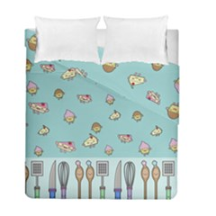 Kawaii Kitchen Border Duvet Cover Double Side (full/ Double Size)