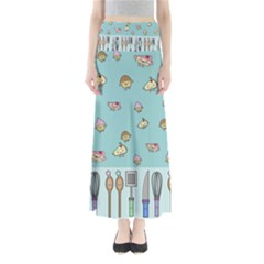Kawaii Kitchen Border Maxi Skirts