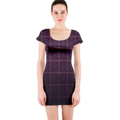 Best Pattern Wallpapers Short Sleeve Bodycon Dress by Nexatart