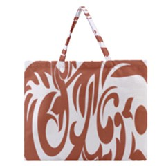 Sign Red Polka Zipper Large Tote Bag by Mariart