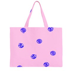 Star Space Balloon Moon Blue Pink Circle Round Polkadot Zipper Large Tote Bag by Mariart