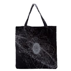 Space X Circle Line Black Grocery Tote Bag by Mariart