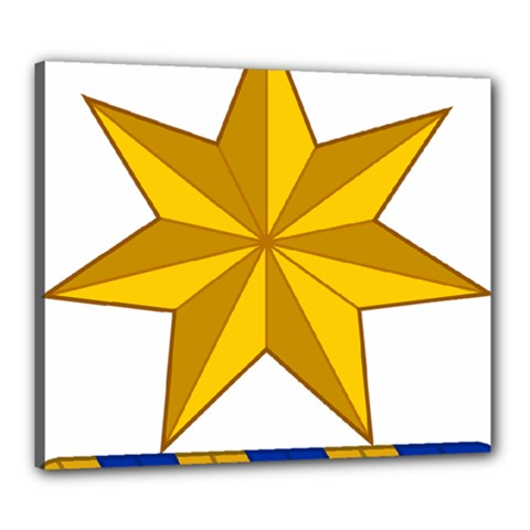 Star Yellow Blue Canvas 24  X 20  by Mariart