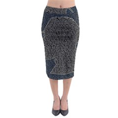 Sherlock Quotes Midi Pencil Skirt by Mariart