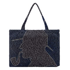 Sherlock Quotes Medium Tote Bag by Mariart
