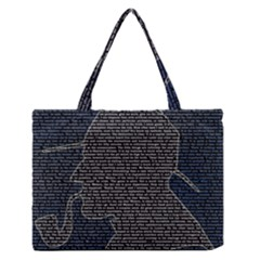 Sherlock Quotes Medium Zipper Tote Bag by Mariart