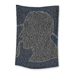 Sherlock Quotes Small Tapestry by Mariart