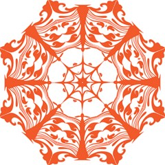 Tree Leaf Flower Orange Sexy Star Folding Umbrellas by Mariart
