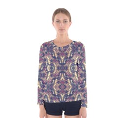 Multicolored Modern Geometric Pattern Women s Long Sleeve Tee