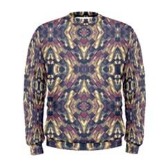 Multicolored Modern Geometric Pattern Men s Sweatshirt