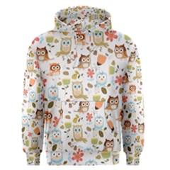 Cute Owl Men s Pullover Hoodie