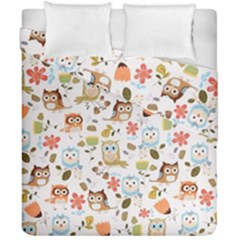 Cute Owl Duvet Cover Double Side (california King Size)