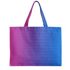 Turquoise Pink Stripe Light Blue Zipper Mini Tote Bag by Mariart
