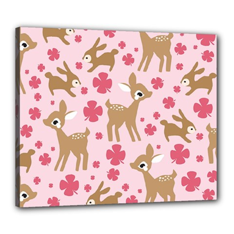 Preety Deer Cute Canvas 24  X 20