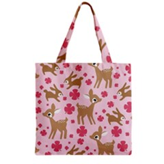 Preety Deer Cute Grocery Tote Bag by Nexatart
