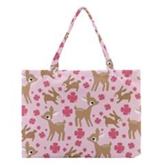 Preety Deer Cute Medium Tote Bag by Nexatart