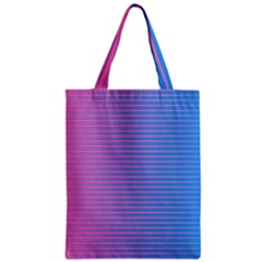 Turquoise Pink Stripe Light Blue Zipper Classic Tote Bag by Mariart