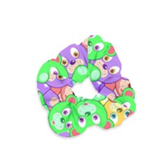 Cute Cartoon Crowd Of Colourful Kids Bears Velvet Scrunchie
