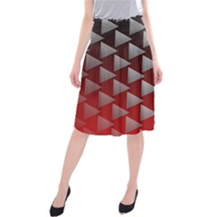 Netflix Play Button Pattern Midi Beach Skirt
