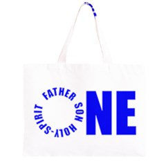 One Zipper Large Tote Bag by 1bodyinchrist