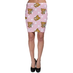 Kawaii Bear Pattern Bodycon Skirt