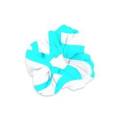 Hindu Om Symbol (cyan) Velvet Scrunchie by abbeyz71
