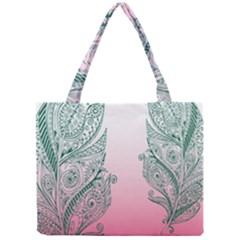 Toggle The Widget Bar Leaf Green Pink Mini Tote Bag by Mariart