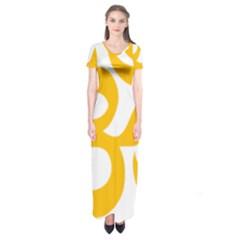 Aum Om Gold Short Sleeve Maxi Dress