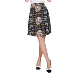 Pearls And Hearts Of Love In Harmony A Line Skirt