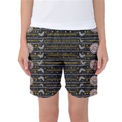 Pearls And Hearts Of Love In Harmony Women s Basketball Shorts