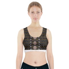Pearls And Hearts Of Love In Harmony Sports Bra With Pocket