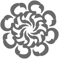 Hindu Om Symbol (dark Gray)  Hook Handle Umbrellas (small) by abbeyz71
