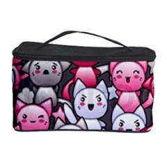 Cute Doodle Wallpaper Cute Kawaii Doodle Cats Cosmetic Storage Case
