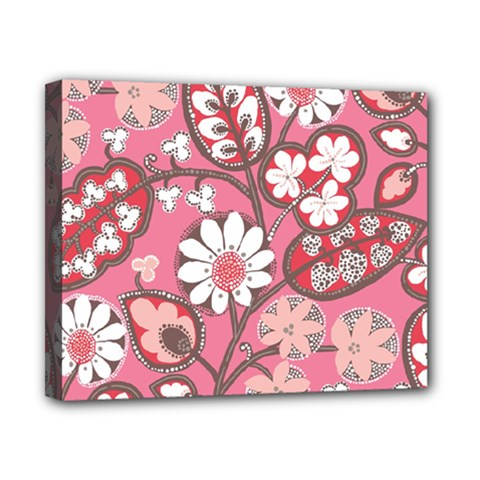 Pink Flower Pattern Canvas 10  X 8  by Nexatart