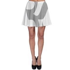 Hindu Om Symbol (light Gray) Skater Skirt by abbeyz71