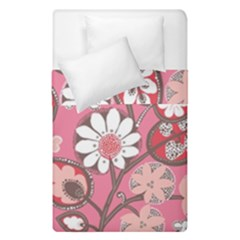 Pink Flower Pattern Duvet Cover Double Side (single Size) by Nexatart