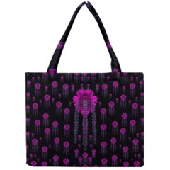 Wonderful Jungle Flowers In The Dark Mini Tote Bag by pepitasart