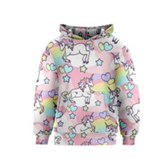 Unicorn Rainbow Kids  Pullover Hoodie by Nexatart