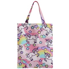 Unicorn Rainbow Zipper Classic Tote Bag by Nexatart