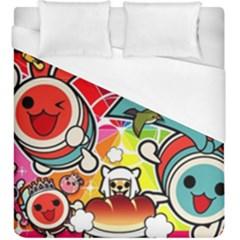 Cute Doodles Wallpaper Background Duvet Cover (king Size)