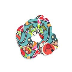 Cute Doodles Wallpaper Background Velvet Scrunchie