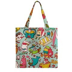 Summer Up Pattern Zipper Grocery Tote Bag by Nexatart