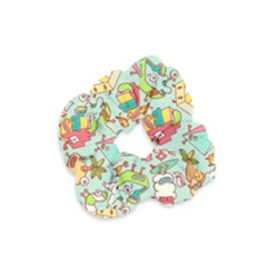 Summer Up Pattern Velvet Scrunchie